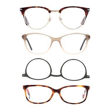 Paires de lunettes rondes