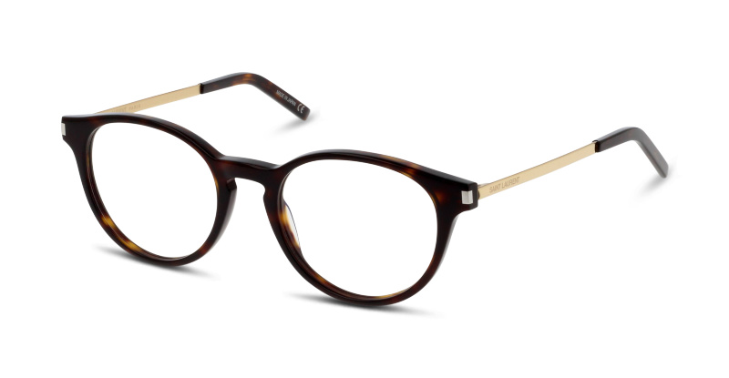 lunettes de vue yves saint laurent sl 25 003 havana dore. Black Bedroom Furniture Sets. Home Design Ideas