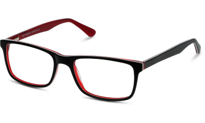 Lunettes de vue BE BRIGHT BBBM28 BR BLACK--RED/BURGUNDY