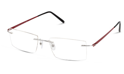 Lunettes de vue LIGHT FLY LFCM10 SR SILVER/LT.GREY--RED/BURGUNDY