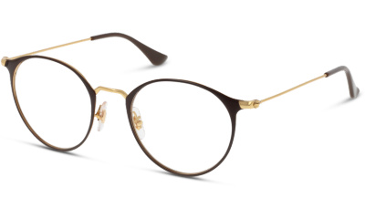 Lunettes de vue Ray Ban 6378 2905 GOLD/SHINY BROWN