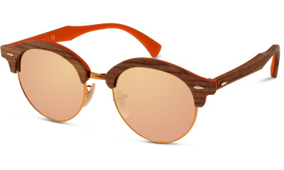 Lunettes de soleil Ray Ban RB4246 CLUBROUND WOOD