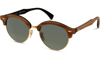 Lunettes de soleil Ray Ban RB4246M CLUBROUND WOOD