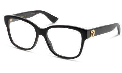 Lunettes de vue Gucci GG0038O 001 BLACK-BLACK-TRANSPARENT