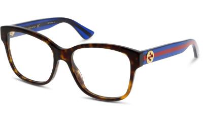 Lunettes de vue Gucci GG0038O 003 AVANA-BLUE-TRANSPARENT