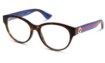 Lunettes de vue Gucci GG0039O 003 AVANA-BLUE-TRANSPARENT