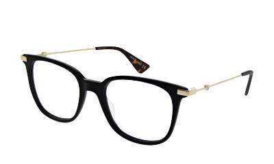 Lunettes de vue Gucci GG0110O 001 BLACK-GOLD-TRANSPARENT