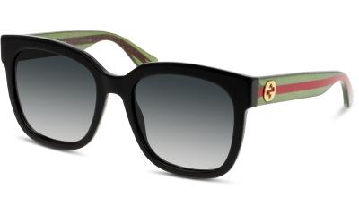 Lunettes de soleil Gucci GG0034S 002 BLACK-GREEN-GREY