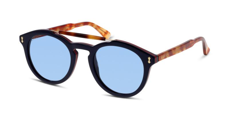 Lunettes de soleil Gucci GG0124S 003 BLUE-AVANA-BLUE