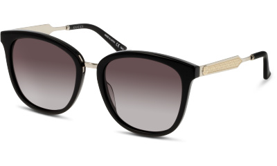 Lunettes de soleil Gucci GG0073S 001 BLACK-SILVER-GREY