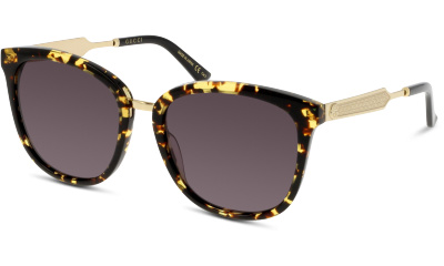 Lunettes de soleil Gucci GG0073S 002 AVANA-GOLD-GREY