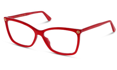 Lunettes de vue Gucci GG0025O 004 RED-RED-TRANSPARENT