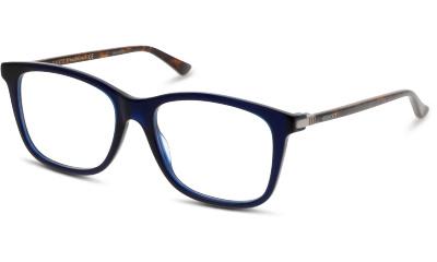 Lunettes de vue Gucci GG0018O 007 BLUE-AVANA-TRANSPARENT