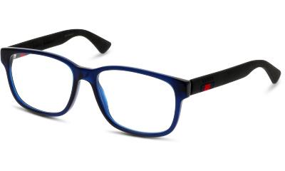 Lunettes de vue Gucci GG0011O 008 BLUE-BLACK-TRANSPARENT