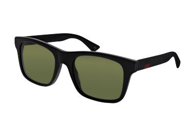 Lunettes de soleil Gucci GG0008S 001 BLACK-BLACK-GREEN