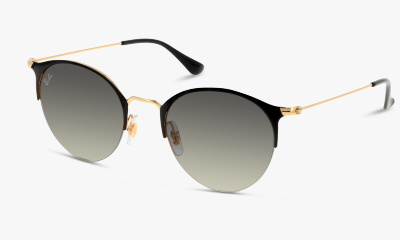 Lunettes de soleil Ray Ban New & 3578 187 GOLD TOP SHINY BLACK