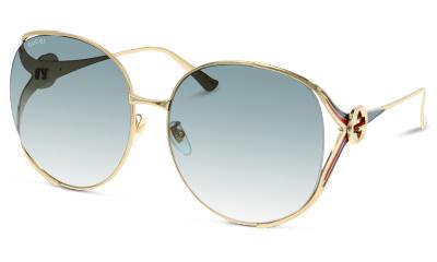 Lunettes de soleil Gucci GG0225S 004 GOLD-GREY