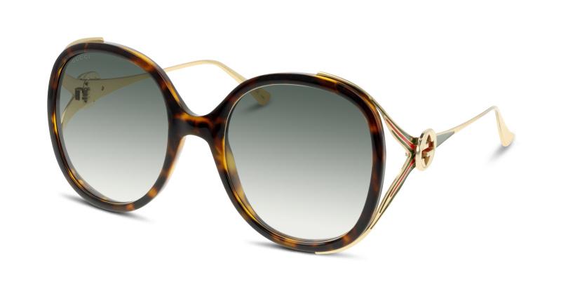 Lunettes de soleil Gucci GG0226S 003 AVANA-GOLD-GREEN