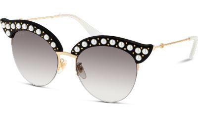 Lunettes de soleil Gucci GG0212S 001 BLACK-GOLD-GREY