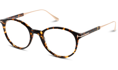Lunettes de vue Tom Ford FT5485 056 SHINY DARK HAVANA