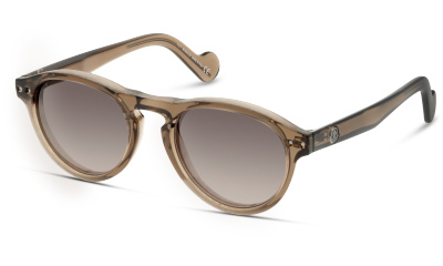 Lunettes de soleil Moncler ML0038 50N CRYSTAL BROWN/ SMOKE MIRROR
