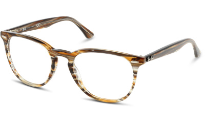 Lunettes de vue Ray Ban 7159 5749 BROWN GREY STRIPPED
