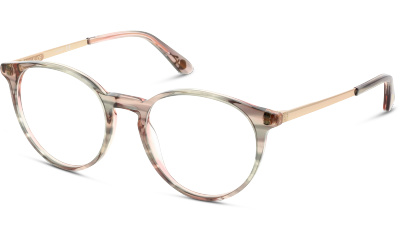f74adb096d1009 Optique Paul Joe ROSY32 GRRC ECAILLE CRISTAL RAYE GRIS ROSE