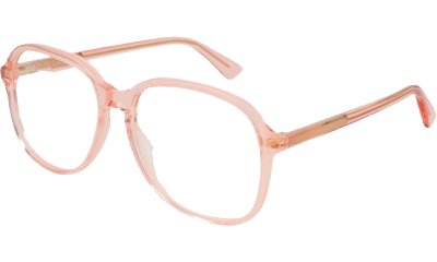 Lunettes de vue Gucci GG0259O 005 ORANGE-TRANSPARENT