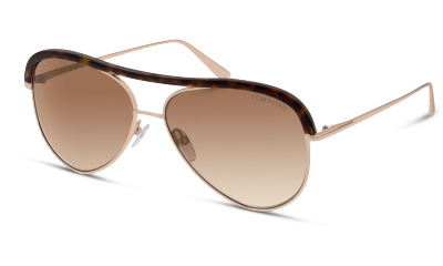 Lunettes de soleil Tom Ford FT0606 28G SHINY PINK GOLD