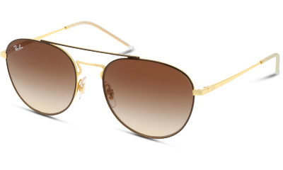 Lunettes de soleil Ray Ban 0RB3589 905513 GOLD TOP ON BROWN