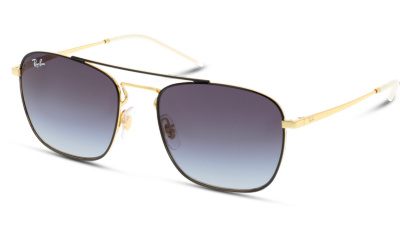 Lunettes de soleil Ray Ban 0RB3588 90548G GOLD ON TOP BLACK