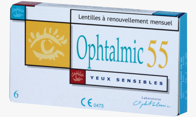 Lentille  Ophtalmic 55