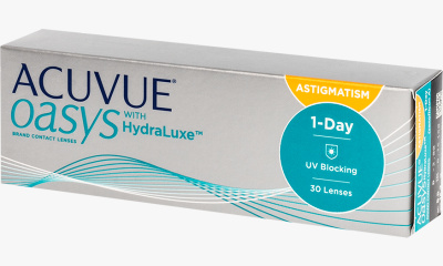 Lentille Acuvue Acuvue Oasys 1 day for astigmatism with hydraluxe