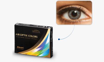 Lentille Air Optix Air Optix Colors GRIS ETINCELANT