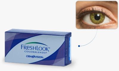Lentilles Freshlook Freshlook Colorblends VERT EMERAUDE
