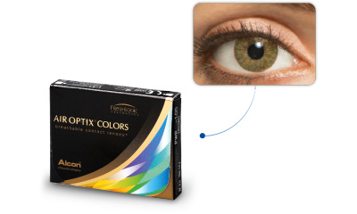 Lentilles de contact Air Optix Air Optix Colors VERT AMANDE
