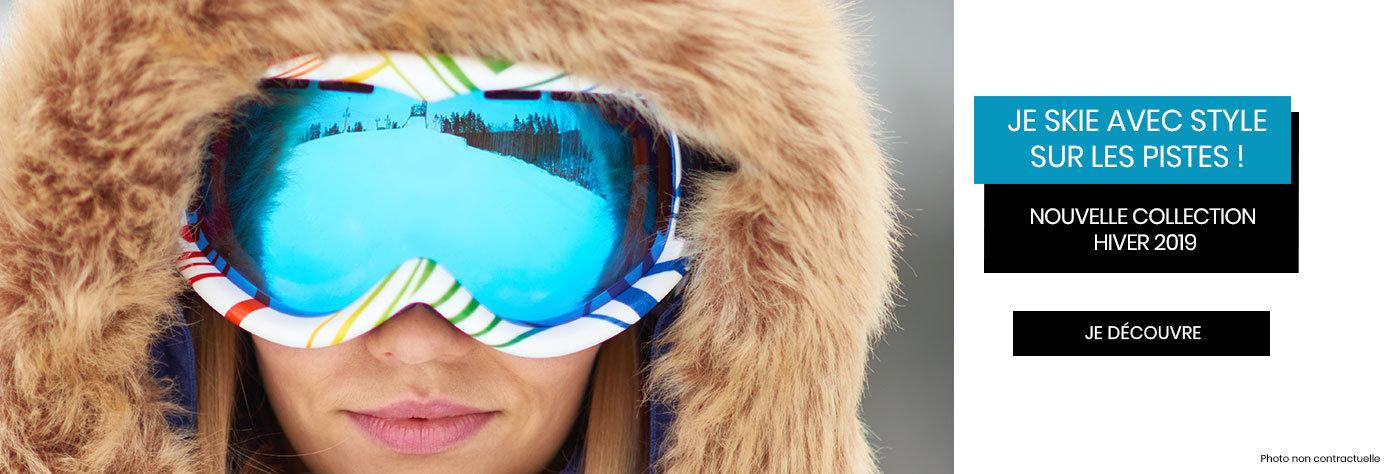 Masques de ski performant et confortable adaptable à la vue
