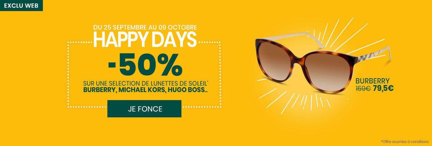 Happy Days : -50% sur une sélection de lunettes de soleil