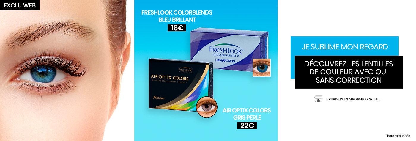Produits lentilles de contacts