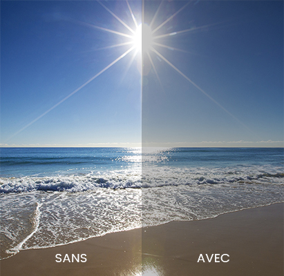 Visuel traitement anti-reflets
